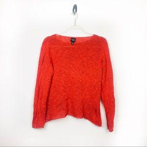 Eileen Fisher Burnt Orange Pullover Knit Sweater